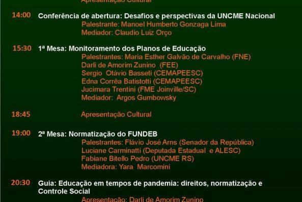Flávio Arns fala sobre a regulamentação do Fundeb no XIV Encontro Estadual dos  Conselhos Municipais de Educação de Santa Catarina